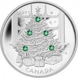 Canadian Silver Christmas Tree 1 oz