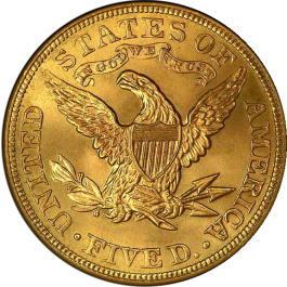 US Liberty Gold Half Eagle $5