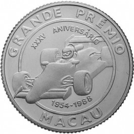 Macau 1988 Silver Grand Prix 35th Anniversary 5 oz Proof
