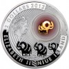 紐埃2012鍍金幸運大象銀幣1盎司_4276