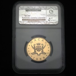 Macau 1988 Dragon Gold Coin 1/2 oz PF-69 NGC