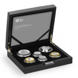英國2014加厚精鑄銀幣6枚套裝