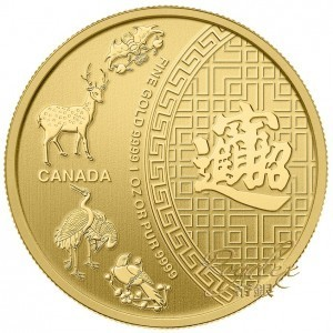 Canadian 2014 FIVE BLESSINGS Gold 1 oz_14119