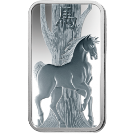 Pamp 2014 Suisse Horse Silver Bar 1 oz