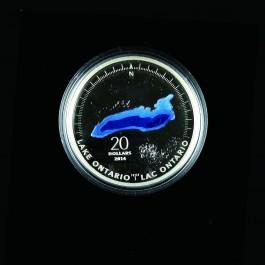 加拿大2014五大湖 - 安大略湖銀幣1盎司