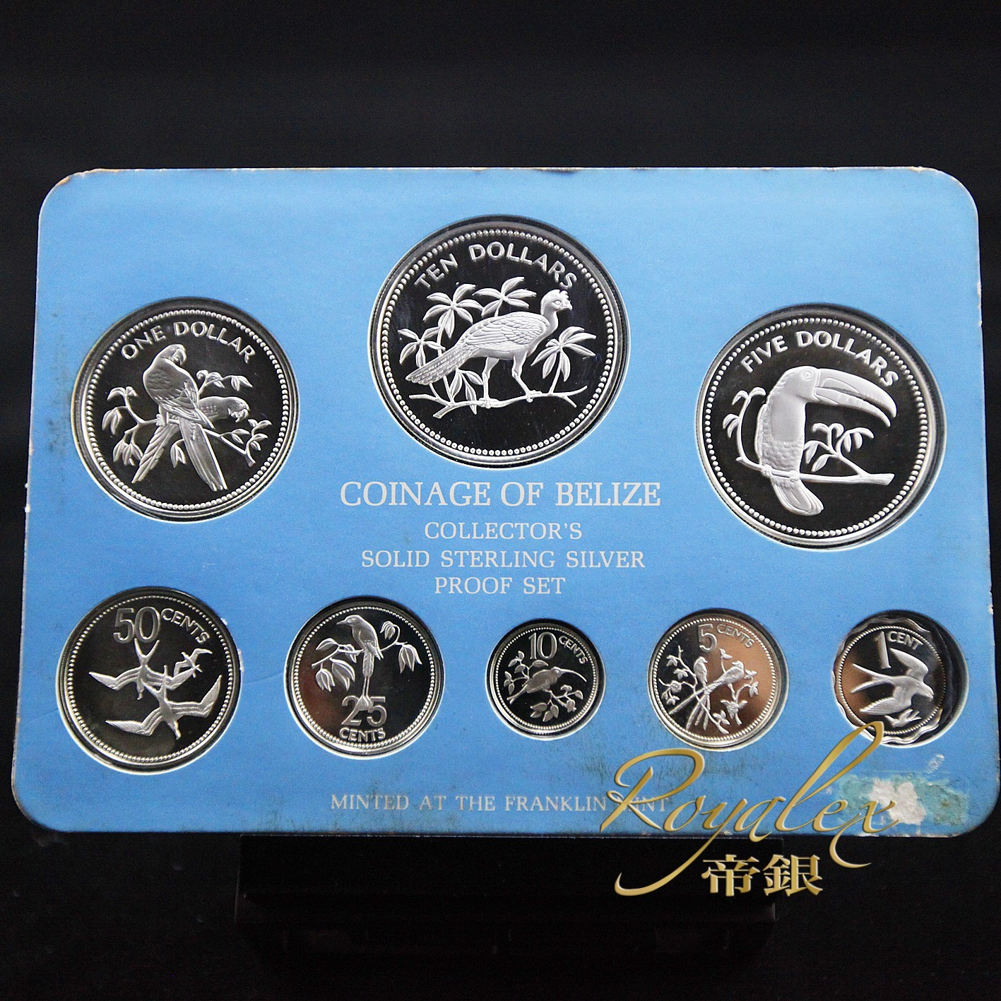 Belize 1978 Proof Silver 8 Coin Set 3 5oz Royalexsilver