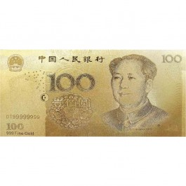 China RMB100 Gold Note (WITH BOX)