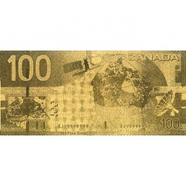 Canada CAD100 Gold Note (WITH BOX)