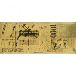Suisse 1000 Francs Gold Note(WITH BOX)