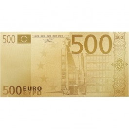 歐盟五百歐羅金紙幣(連包裝盒)