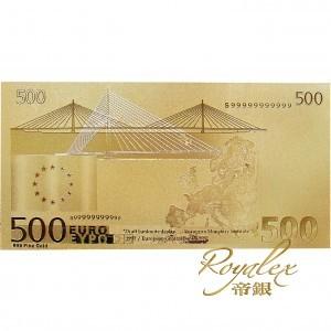 歐盟五百歐羅金紙幣(連包裝盒)_15306