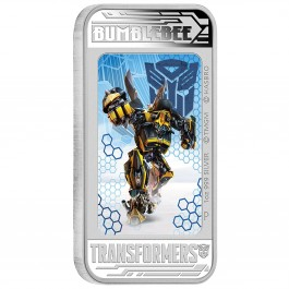 Tuvalu 2014 Transformers 4 - Bumblebee Lenticularl Proof Silver 1 oz