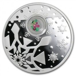 Australian 2012 Christmas Locket Proof Silver 1 oz