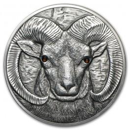 蒙古2013羚羊UNC銀幣