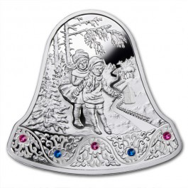 Niue 2013 Christmas Bell Proof Silver 1 oz