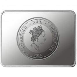 紐埃 2014 郎世寧百駿圖-馬年紀念銀幣4枚套裝