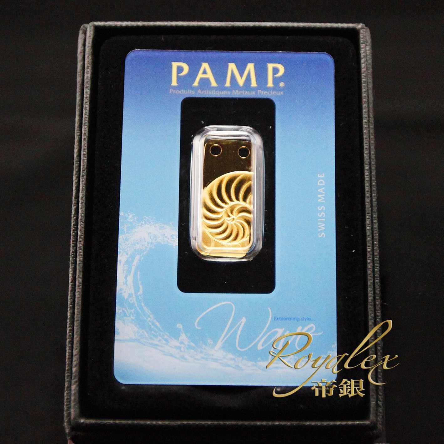 Pamp Nautilus Gold Bar 1 5 Oz Royalexsilver
