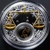白俄羅斯2013十二星座全套12枚鍍金銀絲精鑄銀幣_24052