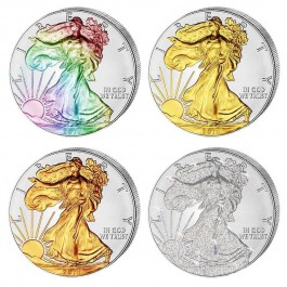 American 2014 Four Seasons Eagle Silver 4 Coin Set