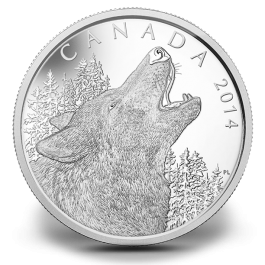 Canada 2014 Howling Wolf proof silver 1/2 Kg