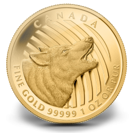 Canada 2014 Howling Wolf Proof Gold 1 oz