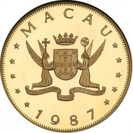 Macau 1987 Rabbit Gold Coin 1/2 oz