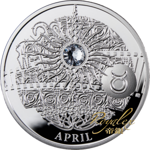 Niue 2013 Magic Stones of Happiness - APRIL Proof Silver 10 g_27423