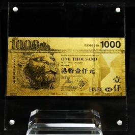 HongKong $1000 HKD Gold Note(WITH BOX)