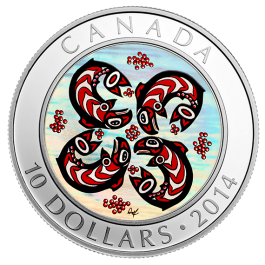 Canada 2014 First Nations Art - Salmon Silver 1/2 oz