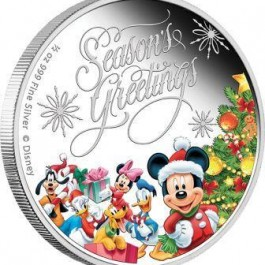 Niue 2014 Disney - Season's Greetings Silver 1/2 oz