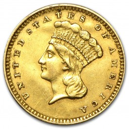 America Indian Head Gold $1 (Type III)