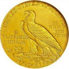 America Indian Gold Quarter Eagle $2.5