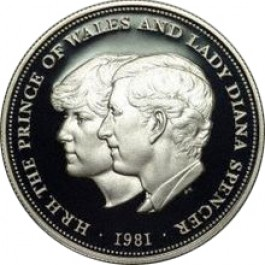 UK Diana & Charles Royal Wedding Silver Coin