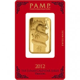 Pamp 2012 Dragon Gold Bar 1 oz