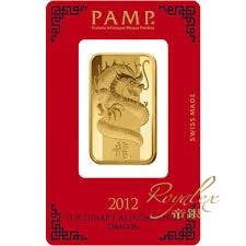 瑞士PAMP龍年生肖金塊1盎司_31258