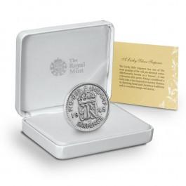 英國幸運6便士銀幣