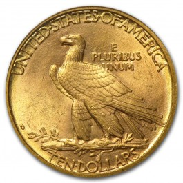 America 1908 $10 Gold Indian Eagle 1/2 oz