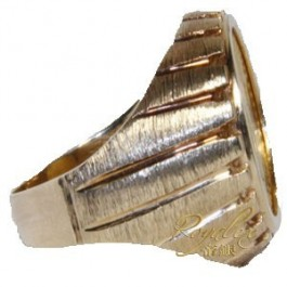 American Gold Eagle Ring