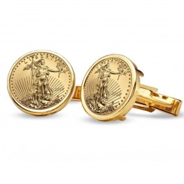 American Gold Eagle Cuff Links
