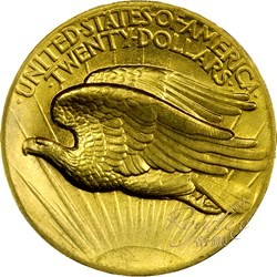 American 1924 St.Gaudens Gold Double Eagle $20_31746