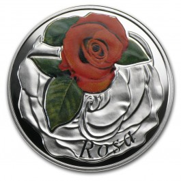Belarus 2013 Rose - Under the Charm of flowers silver proof 1/2 oz