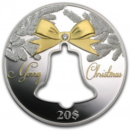 Republic of Kiribati 2013 Christmas Bell Proof Silver 2 oz