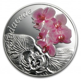 Belarus 2013 Orchid - Under the Charm of flowers silver proof 1/2 oz