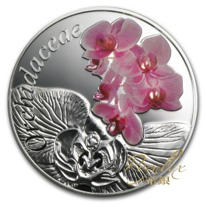 Belarus 2013 Orchid - Under the Charm of flowers silver proof 1/2 oz_31895
