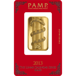 Pamp 2013 Snake Gold Bar 1 oz