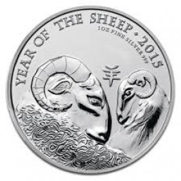 UK 2015 Lunar Year of the Sheep Silver 1 oz