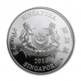 Singapore 2014 Native Coelogyne Rochussenii Proof Silver Coin 1oz