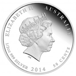 Australian 2014 Christmas Silver Proof Coin 1/2 oz