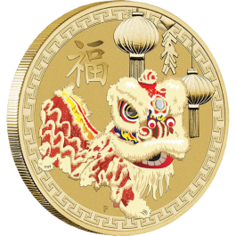 Australian 2015 Chinese New Year – Lion Dance Stamp & Coin Cover 13.5 g