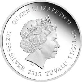 Tuvalu 2015 Year of the Goat - Wealth Proof Silver 1 oz